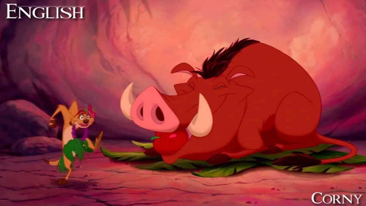 The lion king timon and pumba hula song - photo#4