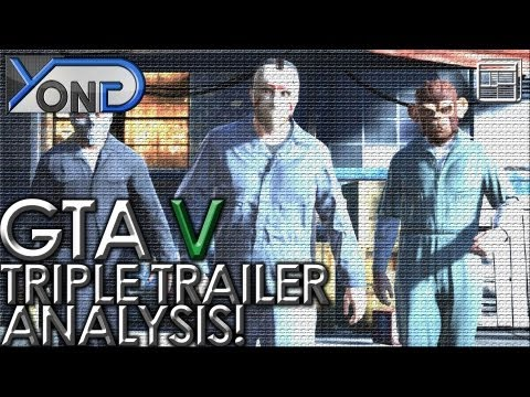 Grand Theft Auto V - Triple Trailer Analysis! Story and Gameplay Detailed!