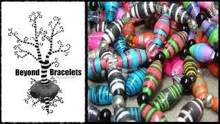 ♻ How To Make Paper Beads Craft Tutorial 6