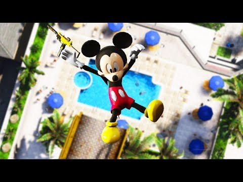GTA 5 Mickey Mouse Parkour Funny Fails #6