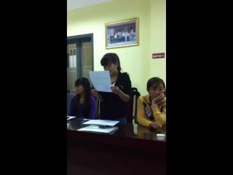 Đoàn viên xã thanh liệt đọc bản kiểm điểm về đảng