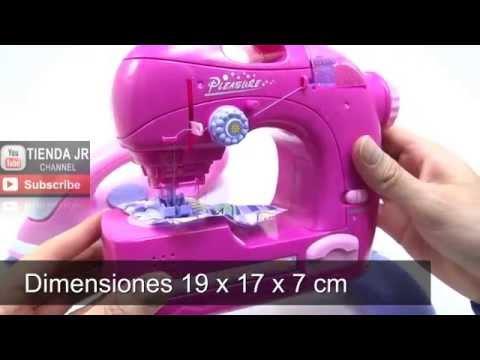 Maquina De Coser y Plancha De Juguete Para Niñas Cose De Verdad / Toy Pink Sewing Machine