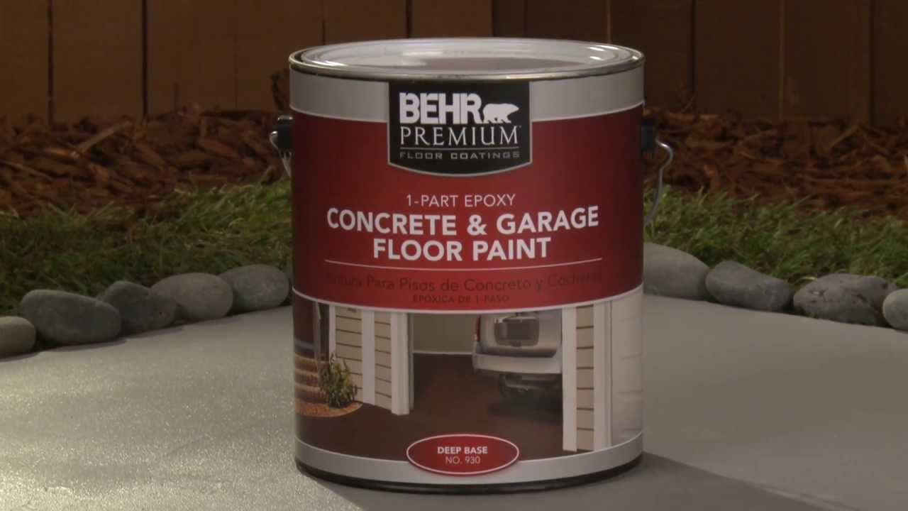 How to apply behr premium 1 part epoxy concrete garage for 1 part epoxy concrete garage floor paint