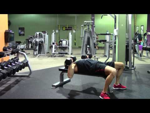 Dumbbell Bench Press - HASfit Chest Exercise Demonstration - Dumbbell Chest Press - Pectoral
