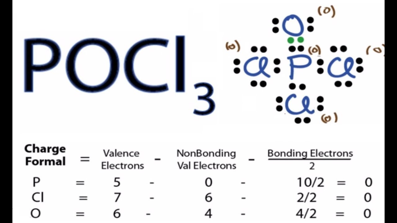 pocl3 lewis structure - how to draw the lewis structure for pocl3