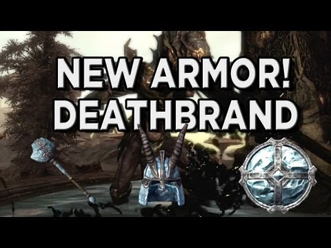 New Skyrim Dragonborn DLC Unique Armor Highlight - Deathbrand Armor (Light Armor Set)