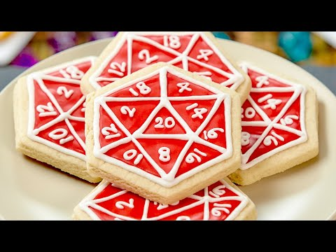20 sided dice cookies are nerdy AND delicious