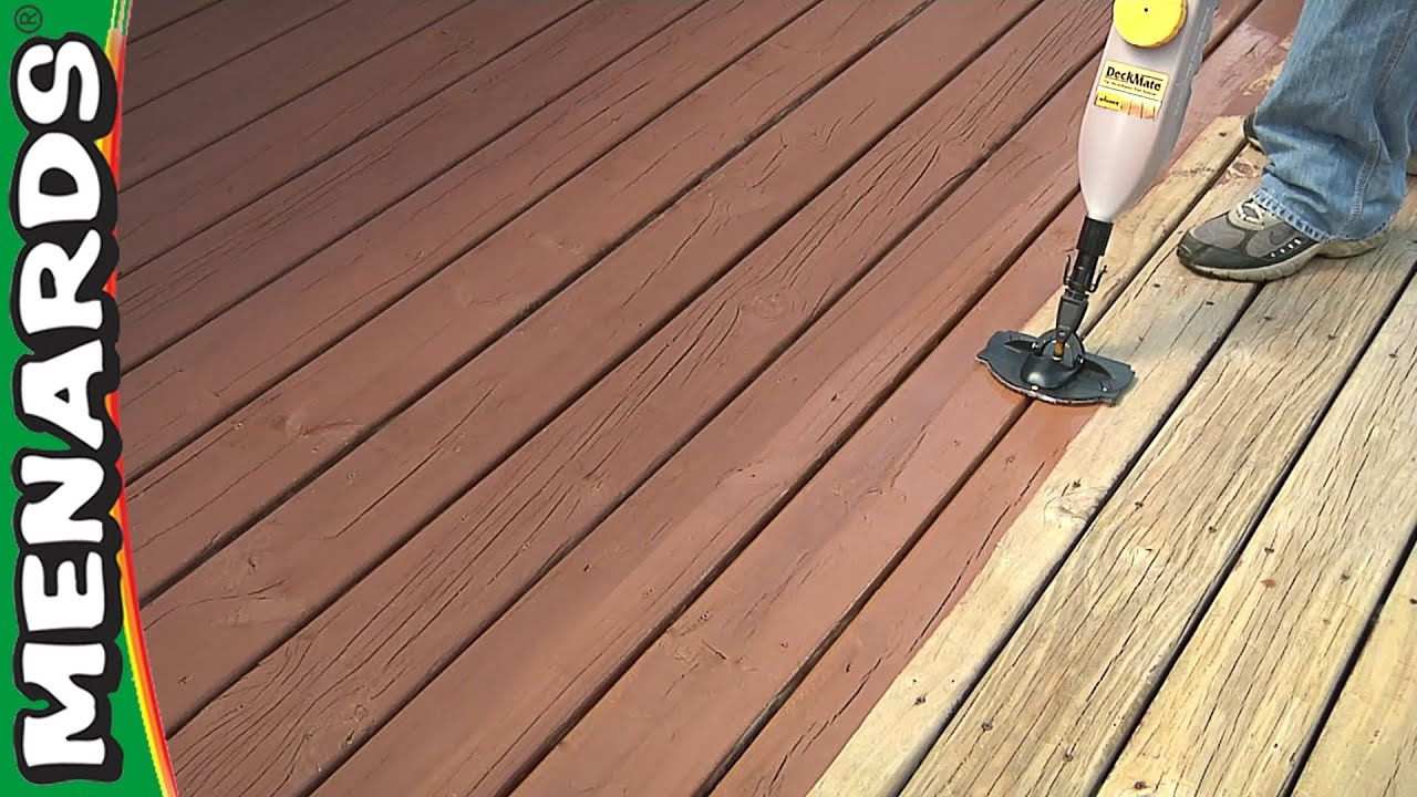 Refinish A Deck - How To - Menards - YouTube