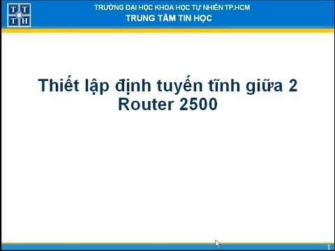 Định tuyến tĩnh giữa 2 Router 2500