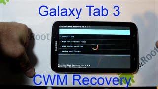 Samsung Galaxy Tab 3 ClockWorkMod Recovery Install