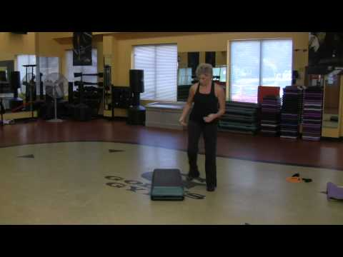 Over the Top Step Aerobics Exercise : Aerobics Exercise