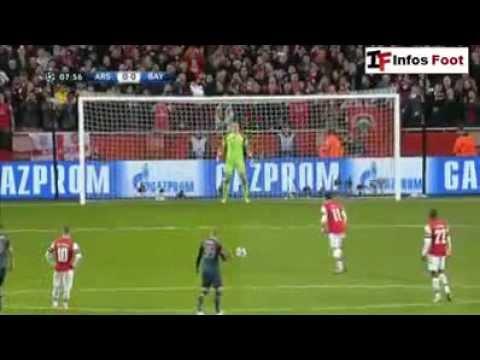 Mesut Özil Penalty Miss vs Bayern Munich HD