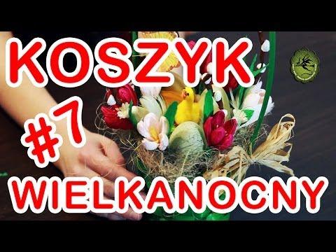 Kwiatki z bibuły #7 - ozdobny koszyk wielkanocny