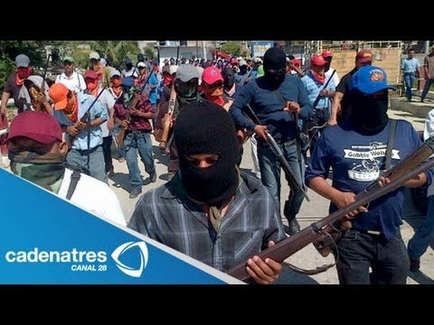 Grupos de autodefensa de Michoacán no entregar sus armas haya que haya tranquilidad