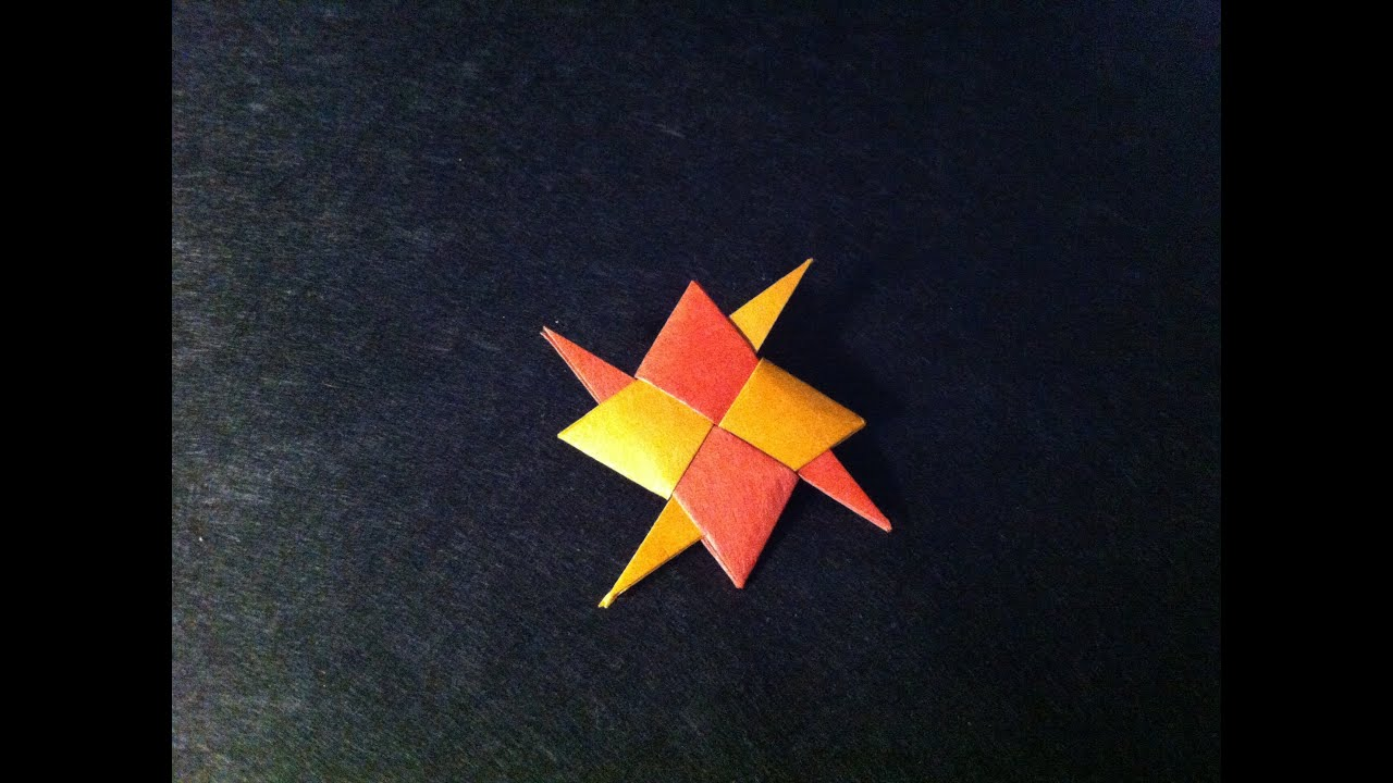 how to make an origami throwing star