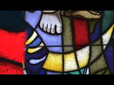 Marijin vitraj v koseški cerkvi