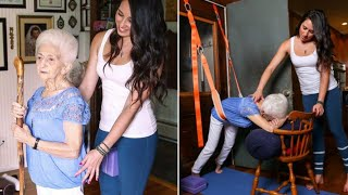 This 86 Year Old Lady Lived With A Hunched Back For Decades  Then She Met An Awesome Yoga Teacher