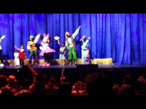 Brian and Karime on stage at the Disney Junior Live on Tour! Pirate & Princess Adventure