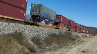 3.4 Mile-long UP Double-stack Freight, 1-10-10