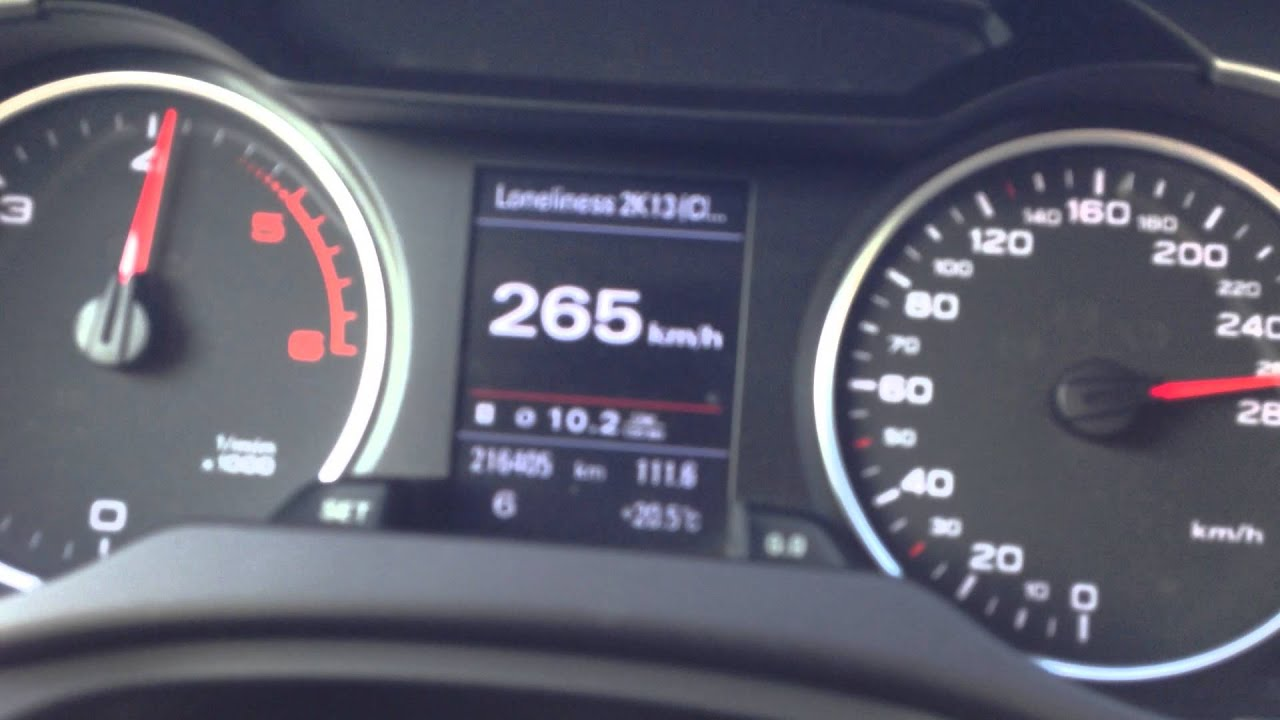 Audi A4 B8 3 0 Tdi 317hp 100 277km H Top Speed Youtube