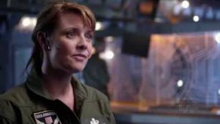 Jack O'Neill and Samantha Carter on Stargate Universe, first episode. view on youtube.com tube online.