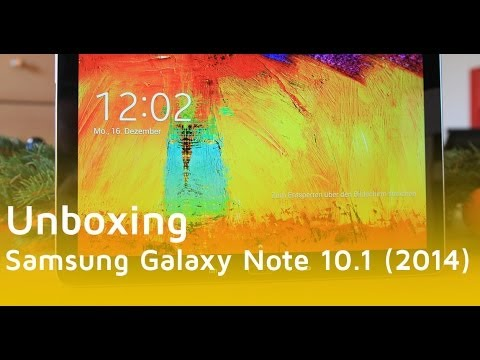 Samsung Galaxy Note 10.1 2014 im Unboxing