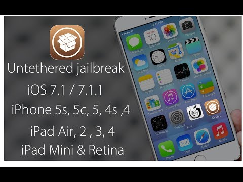 Untethered Jailbreak iOS 7.1 - 7.1.1 iPhone 5S, 5, 4s, 4 iPad Air, 4, 3, 2, iPad Mini