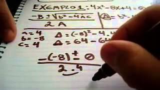 Exemplos-Formula De Bhaskara Exercicios Com Respostas