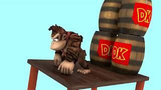 Donkey Kong vs Pacman