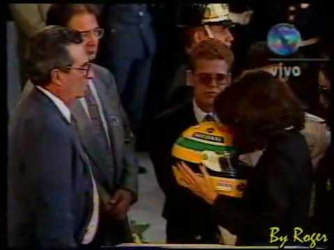 Velório de Ayrton Senna - Prost, Xuxa e familiares - Globo ao vivo