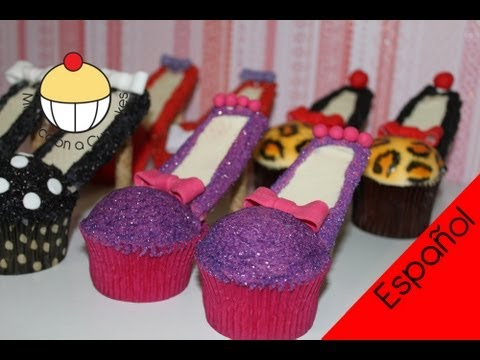 ¡Haz Cupcakes de Zapatos de Tacón! Decora Cupcakes - Cupcake Addiction
