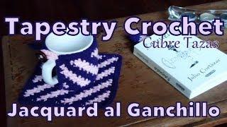 Tapestry Crochet (jacquard): Cubre Tazas Al Ganchillo (cup