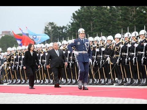 President Tsai welcomes Nauru President Baron Divavesi Waqa with full military honors