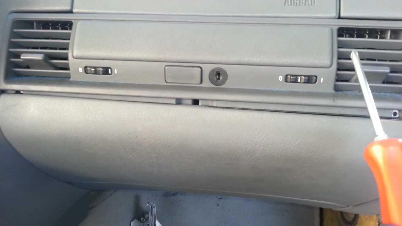 bmw e36 m3 325 328 dash glove box compartment removal