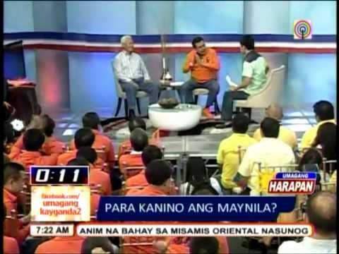 Ex President Erap Estrada Vs Mayor Alfredo Lim Debate in Umagang kay Ganda  (Full)
