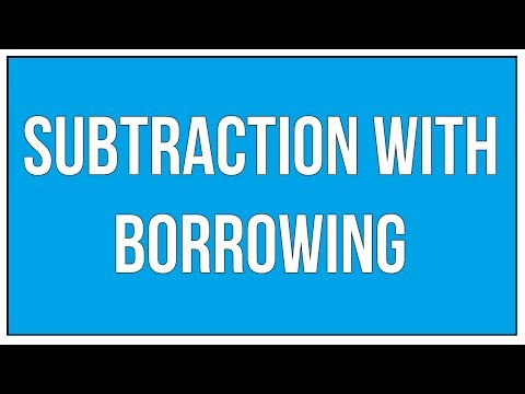 Subtraction Of Whole Numbers With Borrowing
