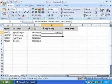 Hướng dẫn kết hợp dữ liệu từ các sheet khác nhau trong Excel