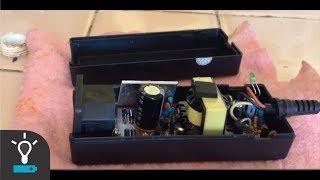 Como abrir un cargador de portatil