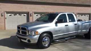 2004 DODGE RAM 3500 QUAD CAB SLT BIG HORN 5 9L CUMMINS DIESEL FOR SALE SEE WWW SUNSETMILAN COM videos