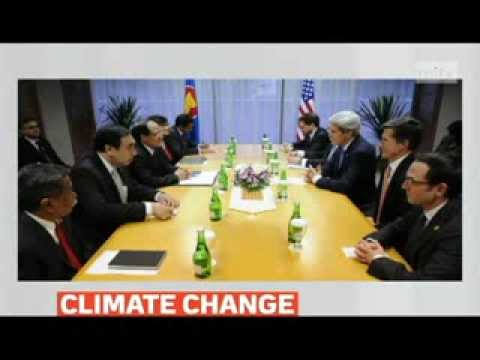 mitv - US Secretary of State Kerry delivers climate change speech in Indonesia