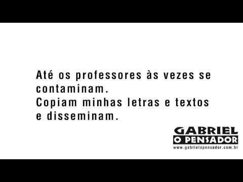 Gabriel o Pensador - Linhas Tortas (Video Lyrics)