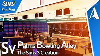 Sims 3 - New Bowling Alley Community Lot view on youtube.com tube online.
