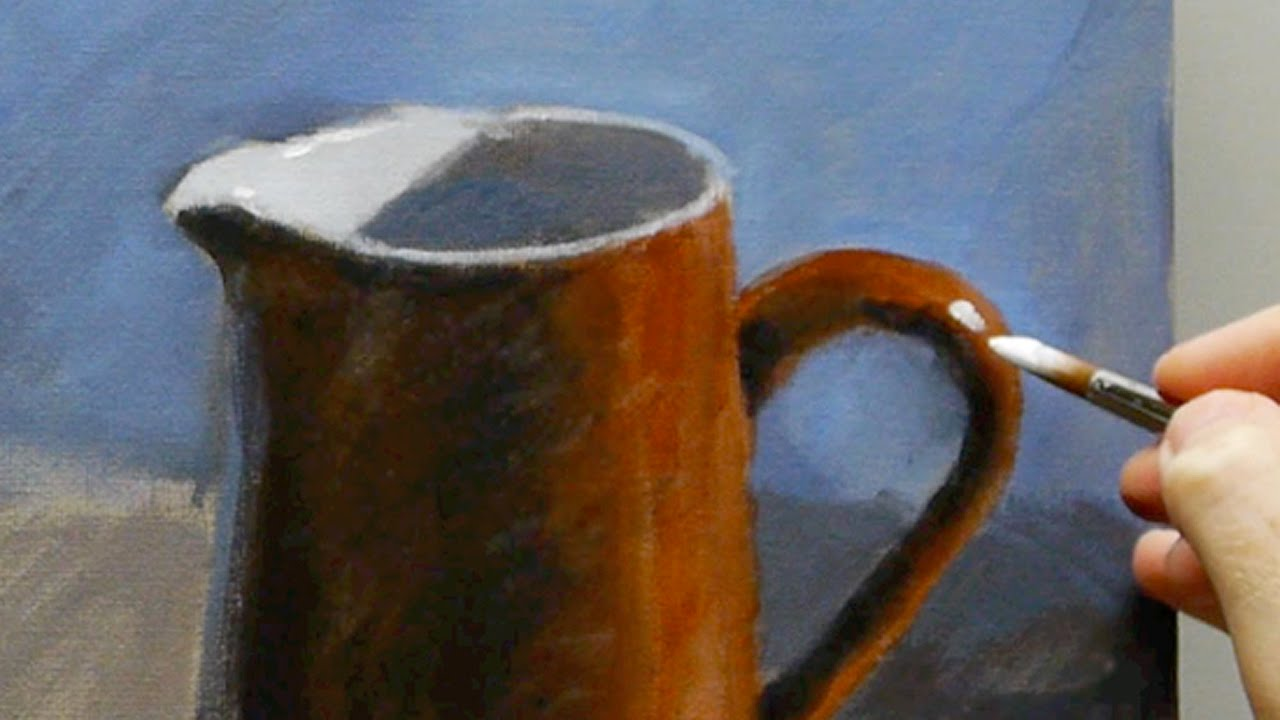 Acrylic Still Life Painting For Beginners Part  Of