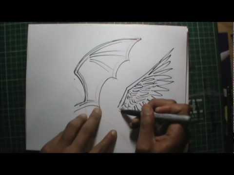 Dibujos para hacer a lapiz de corazones con alas - Imagui