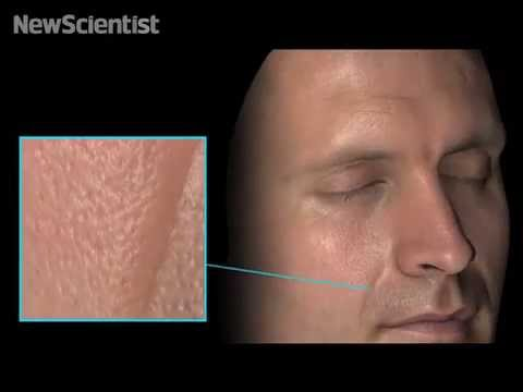 Ultra-realistic CGI skin simulates every pore