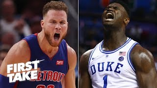 Zion Williamson is more comparable to Blake Griffin than LeBron - Stephen A. | First Take