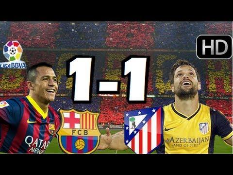 Barcelona 1-1 Atlético de Madrid| TODOS LOS GOLES EN HD 720p| LIGA BBVA| 17-05-2014 |