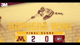 Highlights: Gopher Men's Hockey Tops No. 1 St. Cloud State 2-0