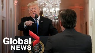 Trump's FULL heated news conference with Jim Acosta, reporters after midterms