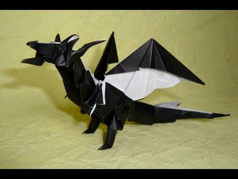 Origami Fiery Dragon instructions ( Kade Chan)